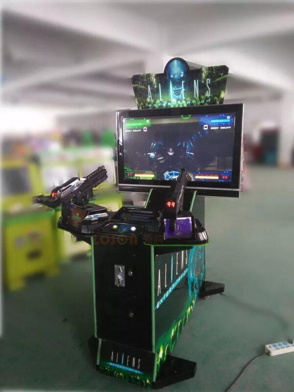 Alien Shooting Arcade Machine in Warehouse