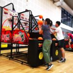 Arcade Basketball Machine in a Sports hall